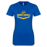 Next Level Ladies SoftStyle Junior Fitted Royal Tee-Baseball Plate