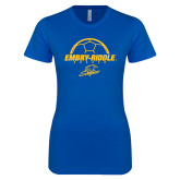 Next Level Ladies SoftStyle Junior Fitted Royal Tee-Soccer Ball