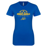 Next Level Ladies SoftStyle Junior Fitted Royal Tee-Soccer on Top