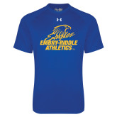 Under Armour Royal Tech Tee-Embry Riddle Athletics
