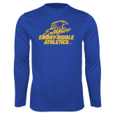 Syntrel Performance Royal Longsleeve Shirt-Embry Riddle Athletics