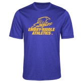 Performance Royal Heather Contender Tee-Embry Riddle Athletics