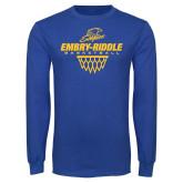 Royal Long Sleeve T Shirt-Basketball Net