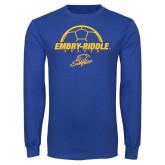 Royal Long Sleeve T Shirt-Soccer Ball