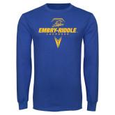 Royal Long Sleeve T Shirt-Lacrosse Geometric