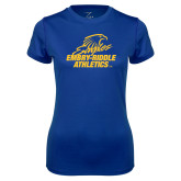Ladies Syntrel Performance Royal Tee-Embry Riddle Athletics