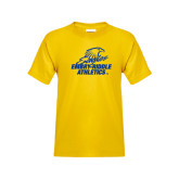 Youth Gold T Shirt-Embry Riddle Athletics