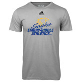 Adidas Climalite Sport Grey Ultimate Performance Tee-Embry Riddle Athletics