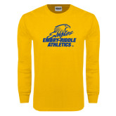 Gold Long Sleeve T Shirt-Embry Riddle Athletics