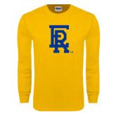 Gold Long Sleeve T Shirt-ER