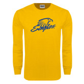 Gold Long Sleeve T Shirt-Eagles