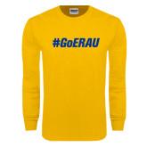 Gold Long Sleeve T Shirt-Go ERAU