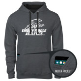 Contemporary Sofspun Charcoal Heather Hoodie-Embry Riddle Athletics