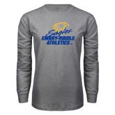 Grey Long Sleeve T Shirt-Embry Riddle Athletics