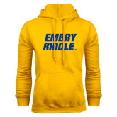 Gold Fleece Hoodie-Embry Riddle Stacked