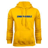 Gold Fleece Hoodie-Embry Riddle Flat