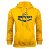Gold Fleece Hoodie-Baseball Plate