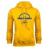 Gold Fleece Hoodie-Soccer Ball