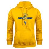 Gold Fleece Hoodie-Lacrosse Geometric