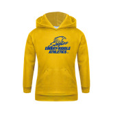 Youth Gold Fleece Hoodie-Embry Riddle Athletics