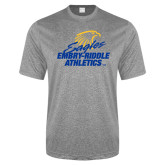 Performance Grey Heather Contender Tee-Embry Riddle Athletics