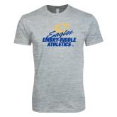 Next Level SoftStyle Heather Grey T Shirt-Embry Riddle Athletics