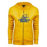 ENZA Ladies Gold Fleece Full Zip Hoodie-Embry Riddle Athletics
