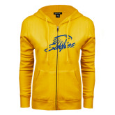 ENZA Ladies Gold Fleece Full Zip Hoodie-Eagles