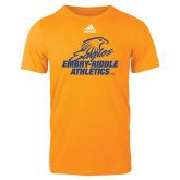 Adidas Gold Logo T Shirt-Embry Riddle Athletics