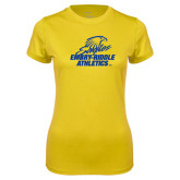 Ladies Syntrel Performance Gold Tee-Embry Riddle Athletics