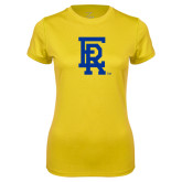 Ladies Syntrel Performance Gold Tee-ER