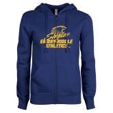 ENZA Ladies Royal Fleece Full Zip Hoodie-Embry Riddle Athletics