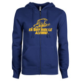 ENZA Ladies Royal Fleece Full Zip Hoodie-Alumni
