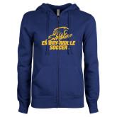 ENZA Ladies Royal Fleece Full Zip Hoodie-Soccer
