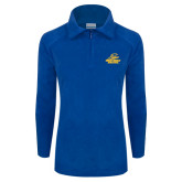 Columbia Ladies Half Zip Royal Fleece Jacket-Embry Riddle Athletics