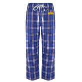 Royal/White Flannel Pajama Pant-Embry Riddle Athletics