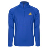 Sport Wick Stretch Royal 1/2 Zip Pullover-Embry Riddle Athletics