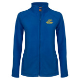 Ladies Fleece Full Zip Royal Jacket-Embry Riddle Athletics