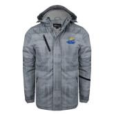 Grey Brushstroke Print Insulated Jacket-Embry Riddle Athletics
