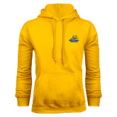 Gold Fleece Hoodie-Embry Riddle Athletics