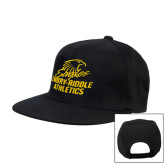 Black Flat Bill Snapback Hat-Embry Riddle Athletics