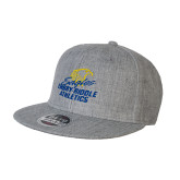 Heather Grey Wool Blend Flat Bill Snapback Hat-Embry Riddle Athletics