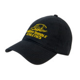 Black Twill Unstructured Low Profile Hat-Embry Riddle Athletics