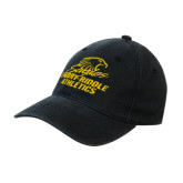 Black OttoFlex Unstructured Low Profile Hat-Embry Riddle Athletics