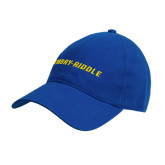 Royal Twill Unstructured Low Profile Hat-Embry Riddle Flat