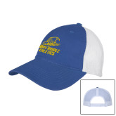 Royal/White Mesh Back Unstructured Low Profile Hat-Embry Riddle Athletics