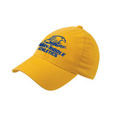 Gold Flexfit Mid Profile Hat-Embry Riddle Athletics
