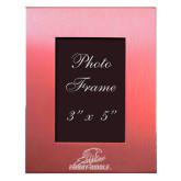 Pink Brushed Aluminum 3 x 5 Photo Frame-Primary Mark