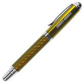 Carbon Fiber Gold Rollerball Pen-Embry Riddle Flat