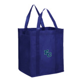 Non Woven Navy Grocery Tote-Secondary Mark